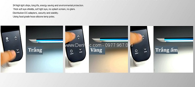 Đèn học chống cận LED DHCC802 điều chỉnh 3 chế độ mầu