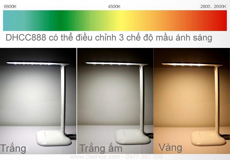 Đèn bàn học LED 3 chế độ màu ánh sáng