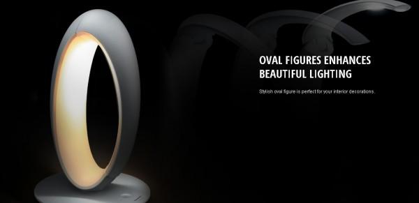 Thiết kế Oval của đèn Panasonic LE530