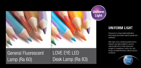 Đèn bàn Panasonic LE530 cho ánh sáng có độ trung thực cao