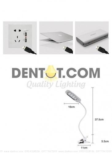 Cổng cắm dây USB tiện dụng, với dây nguồn dài 1,5m