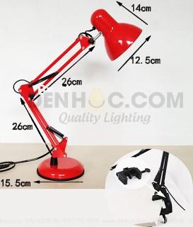 Kích thước đèn bàn kẹp có chân đế