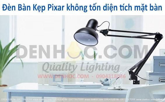 Đèn kẹp bàn pixar trong không gian hiện đại