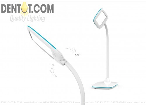 đèn bàn tích điện DTQF1504 cổ xuay linh hoạt