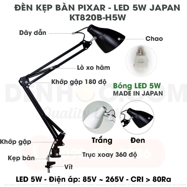 Đèn kẹp bàn Pixar LED NHẬT BẢN 5W