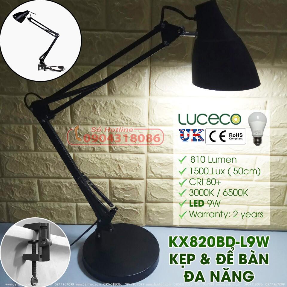 Đèn bàn & kẹp đa năng KX820BD-L9W