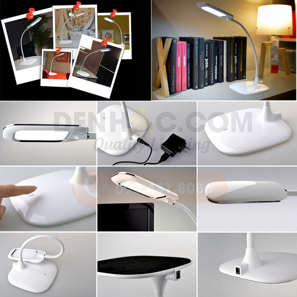 Các chi tiết góc cạnh đèn bàn tích điện DHCC801