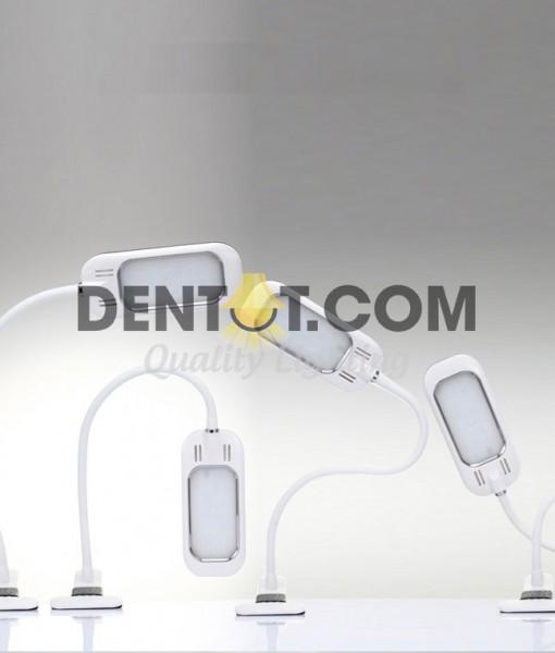 Đèn kẹp bàn LED thân mềm dễ điều chỉnh vị trí chiếu sáng