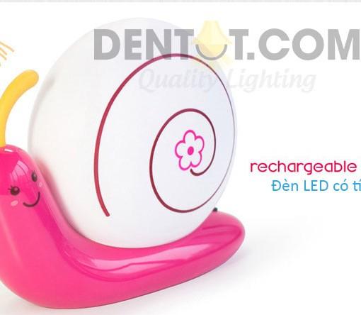 đèn ngủ tích điện màu hồng nhạt