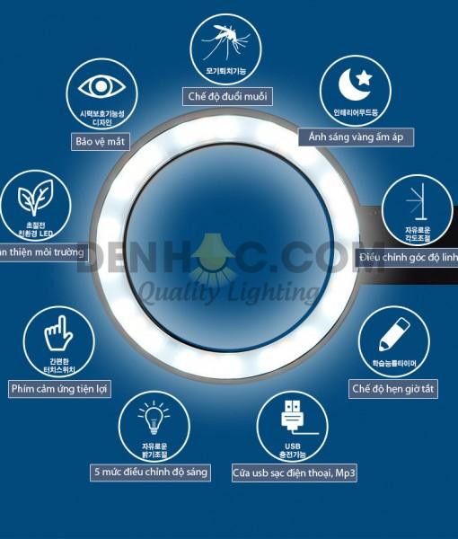 Thiết kế tròn của Đèn bàn học Hàn Quốc Cogylight