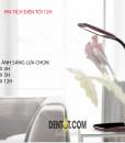 đèn bàn tích điện DTQF1504 pin có thể sử dụng tới 12h