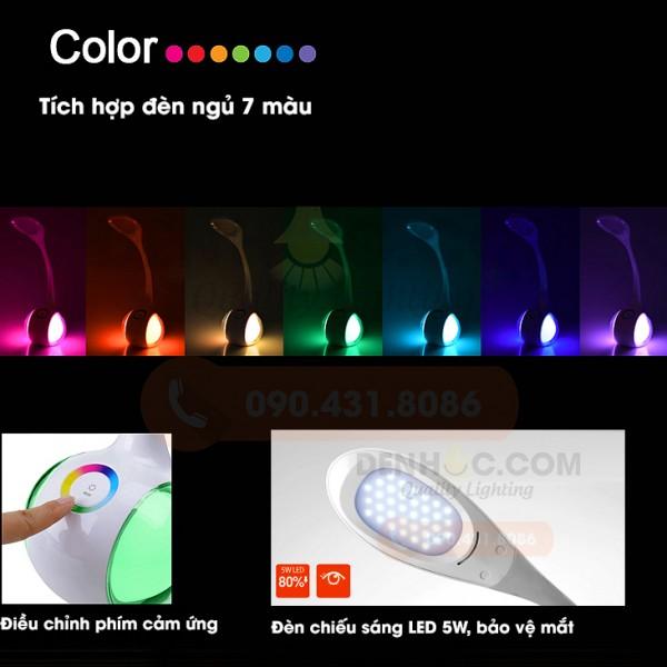 Đèn bàn học tích hợp đèn ngủ ngũ sắc DHCCT3