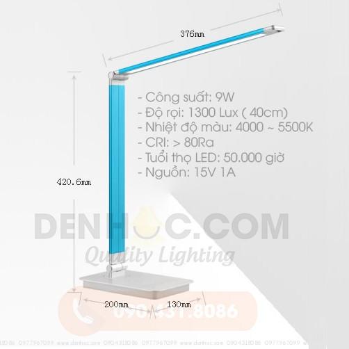 Thông số kỹ thuật cơ bản Đèn học LED cao cấp DTT10