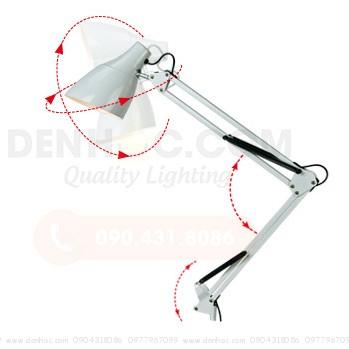 Đèn kẹp bàn Pixar với góc xoay rộng và linh hoạt