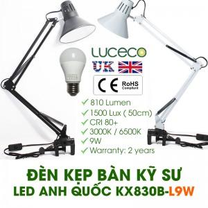 Đèn Kẹp Bàn LED 9W ANH QUỐC LUCECO