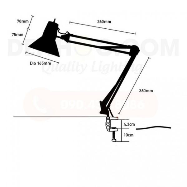 Thiết kế của Đèn kẹp bàn kỹ sư KX830B-L7W