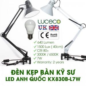 Đèn kẹp bàn kỹ sư LED Anh Quốc tiêu chuẩn Châu Âu